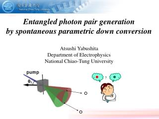 Entangled photon pair generation by spontaneous parametric down conversion Atsushi Yabushita