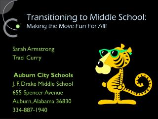 Transitioning to Middle School: Making the Move Fun For All!