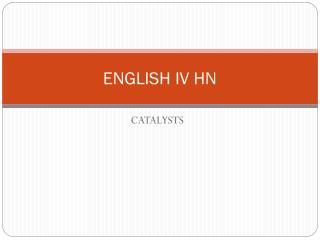 ENGLISH IV HN