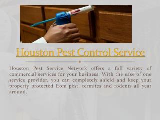 Houston Exterminator Service