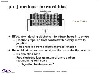 p-n junctions: forward bias
