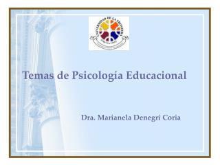 Temas de Psicolog a Educacional