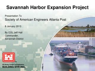 Presentation To Society of American Engineers Atlanta Post 8 January 2013 By COL Jeff Hall