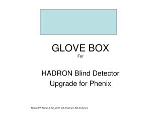 GLOVE BOX For