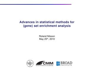 Advances in statistical methods for gene set enrichment analysis