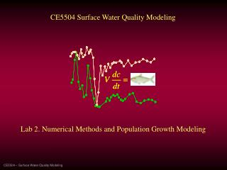 CE5504 – Surface Water Quality Modeling