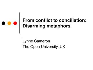 From conflict to conciliation: Disarming metaphors