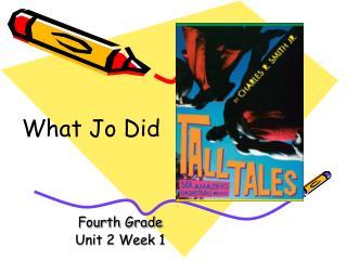 Fourth Grade Unit 2 Week 1