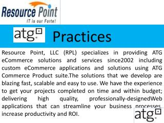 Get high quality ATG solutions at Resource Point