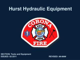 Hurst Hydraulic Equipment