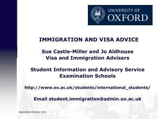 IMMIGRATION AND VISA ADVICE