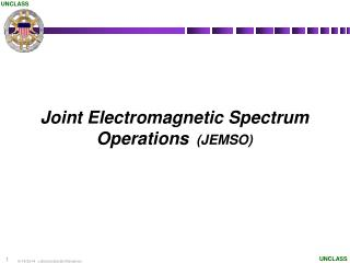 Joint Electromagnetic Spectrum Operations   (JEMSO)