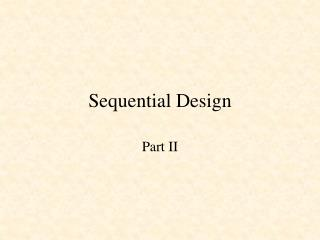Sequential Design