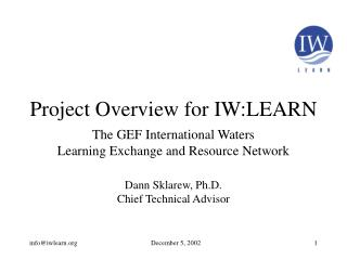 Project Overview for IW:LEARN