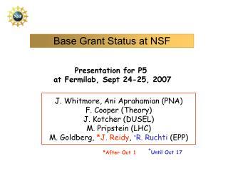 Base Grant Status at NSF