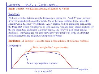 Lecture #21      EGR 272 � Circuit Theory II