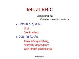 Jets at RHIC
