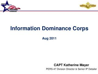 Information Dominance Corps Aug 2011