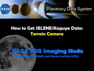 How to Get SELENE/Kaguya Data: Terrain Camera