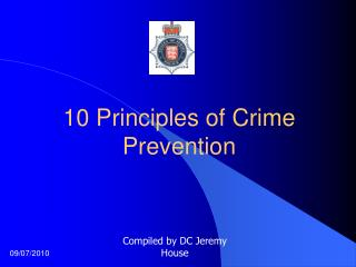 10 Principles of Crime Prevention