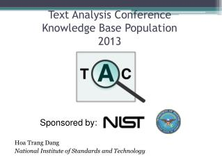 Text Analysis Conference Knowledge Base Population 2013