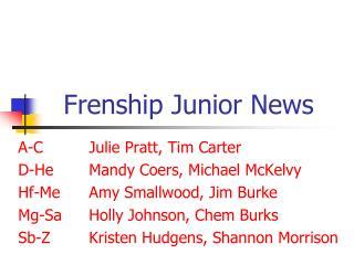Frenship Junior News