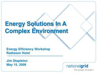 Energy Solutions In A Complex Environment