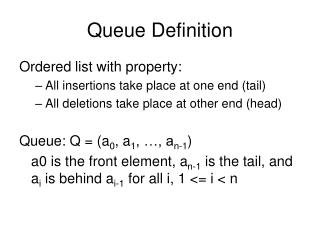 Queue Definition