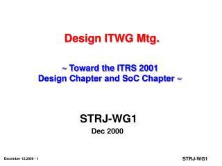 Design ITWG Mtg.