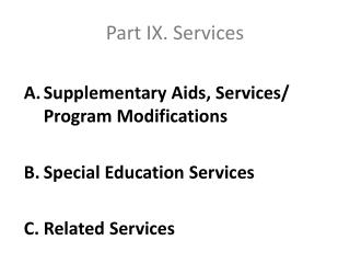 Part IX. Services