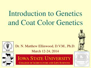 Introduction to Genetics and Coat Color Genetics