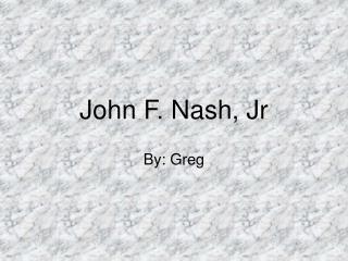 John F. Nash, Jr