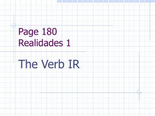 Page 180 Realidades 1