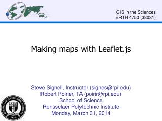 Making maps with Leaflet.js