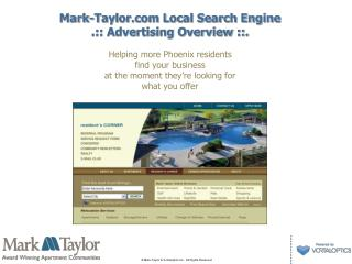 Mark-Taylor Local Search Engine  .:: Advertising Overview ::.