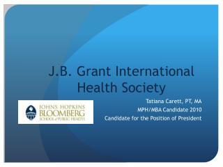 J.B. Grant International Health Society