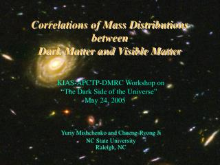 Correlations of Mass Distributions between  Dark Matter and Visible Matter