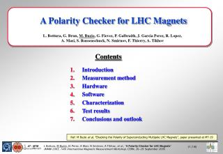 A Polarity Checker for LHC Magnets