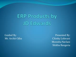 ERP Products by JD Edwards