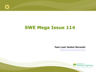 SWE Mega Issue 114
