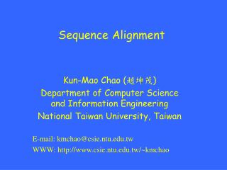 Sequence Alignment