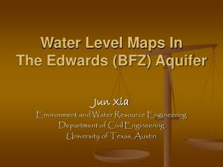 Water Level Maps In  The Edwards BFZ Aquifer