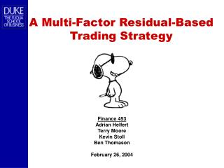 A Multi-Factor Residual-Based Trading Strategy