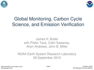 Global Monitoring, Carbon Cycle Science, and Emission Verification