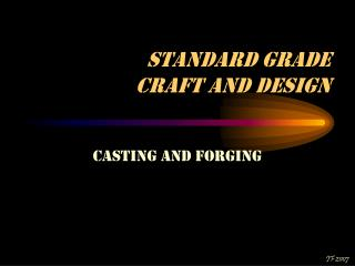 Standard Grade  Craft and Design