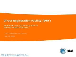 Direct Registration Facility (DRF)