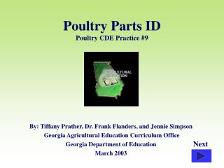 Poultry Parts ID Poultry CDE Practice #9