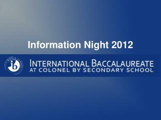 Information Night 2012