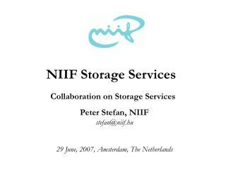 NIIF Storage Services