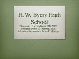 H.W. Byers High School